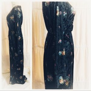 Zara Dresses - Zara Floral Wrap Dress Women's Large Black